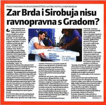Pismo građanina Splita gradonačelniku Baldasaru