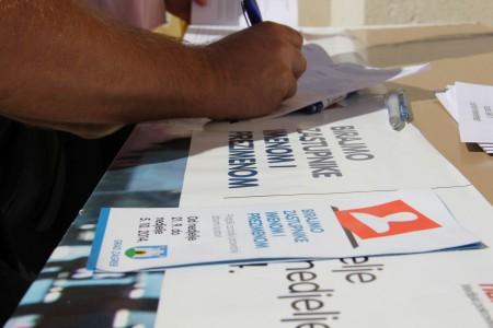 Privremeni rezultati sa 75% lokacija – do sada prikupljeno 350 000 potpisa
