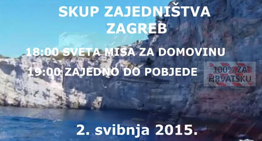 Pridružimo se 'Skupu zajedništva -100 posto za Hrvatsku' Oni koji su nas branili to zaslužuju