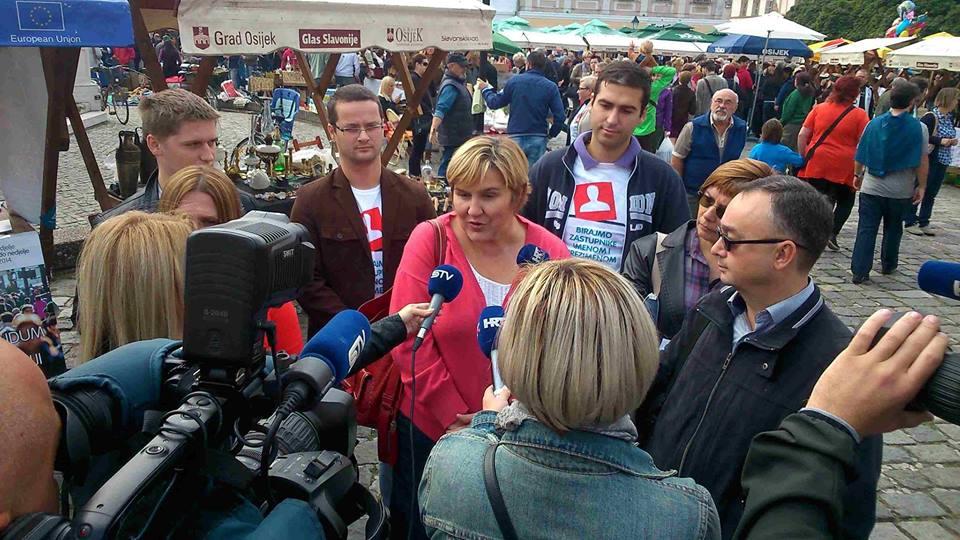 """Najava – Tribina 'Društveno zagovaranje i obitelj"""", Osijek, 25. 4. 2015."""