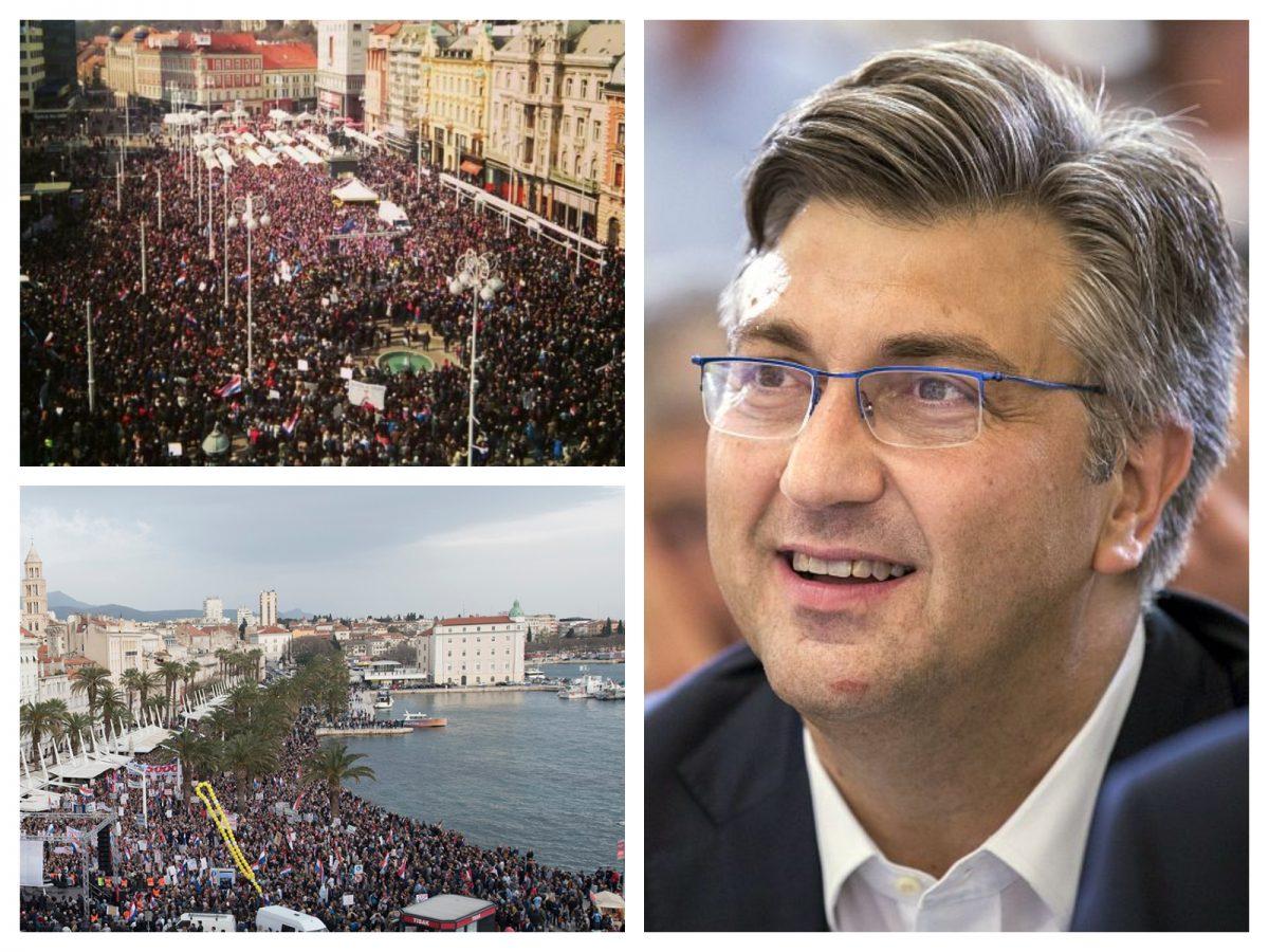 (VIDEO, FOTO) Danas na snagu stupa Istanbulska konvencija – Plenkovićev udar na demokraciju