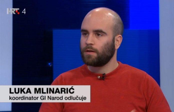 (FOTO) Luka Mlinarić (GI Narod odlučuje): 'Ukoliko USUD ne bude jamac zaštite demokratskih prava treba se upitati kakva je ovo država'