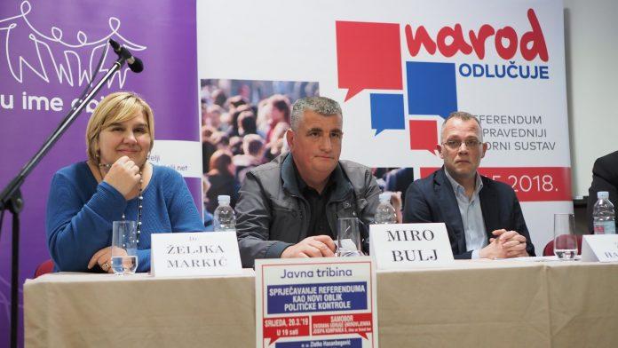 (FOTO) Tribina GI Narod odlučuje: Prevareni građani trebaju kazniti vladajuće na izborima!
