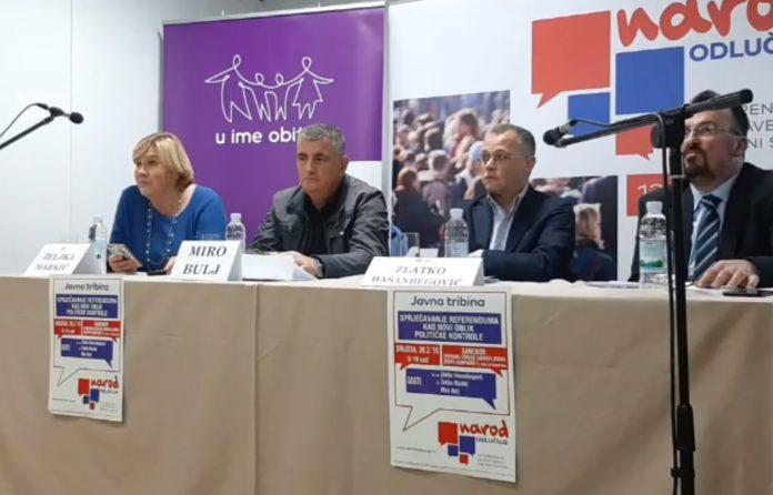 (VIDEO) Tribina GI Narod odlučuje u Samoboru: 'Sprječavanje referenduma kao novi oblik političke kontrole'
