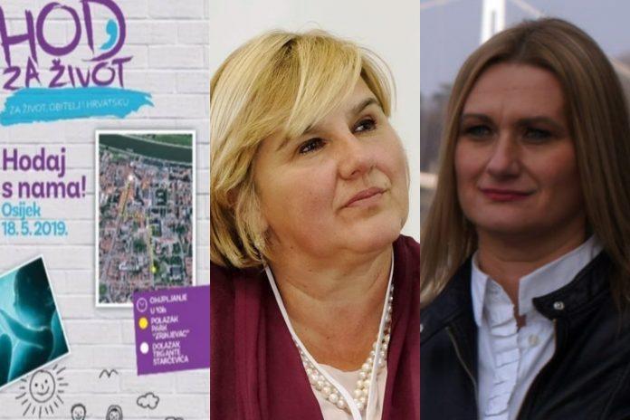 'Hod za život: zaštitimo najugroženiju manjinu u Hrvatskoj' večeras u Valpovu: Govorit će dr. Željka Markić i prof. Lidija Blagojević