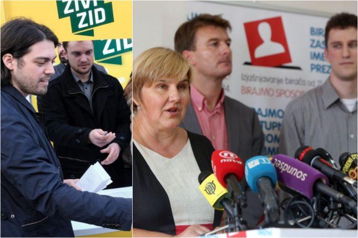 (VIDEO) Živi zid želi referendum o ukidanju financiranja stranaka iz proračuna što je UiO predložila još prije sedam mjeseci