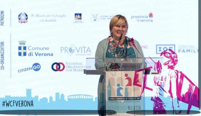 (VIDEO, FOTO) Dr. Željka Markić na Svjetskom kongresu obitelji u Veroni: 'Na izborima za EP izaberite predstavnike koji će štititi brak, obitelj, žene i djecu'