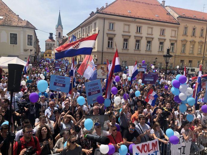 (FOTO, VIDEO) Hod za život, obitelj i Hrvatsku – tisuće i tisuće ljudi slavi život u centru Zagreba