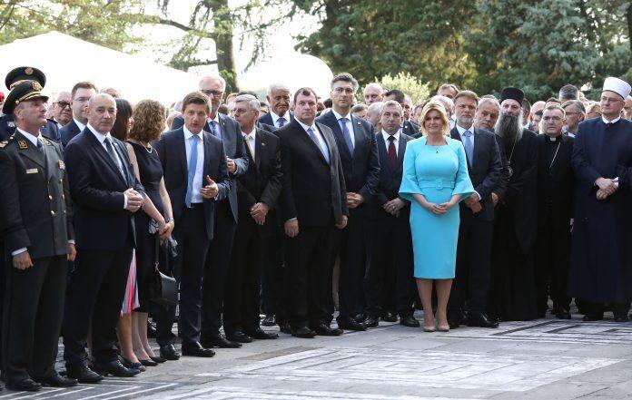 (VIDEO) Evo tko se pojavio, a tko nije došao na prijem kod Predsjednice povodom Dana državnosti