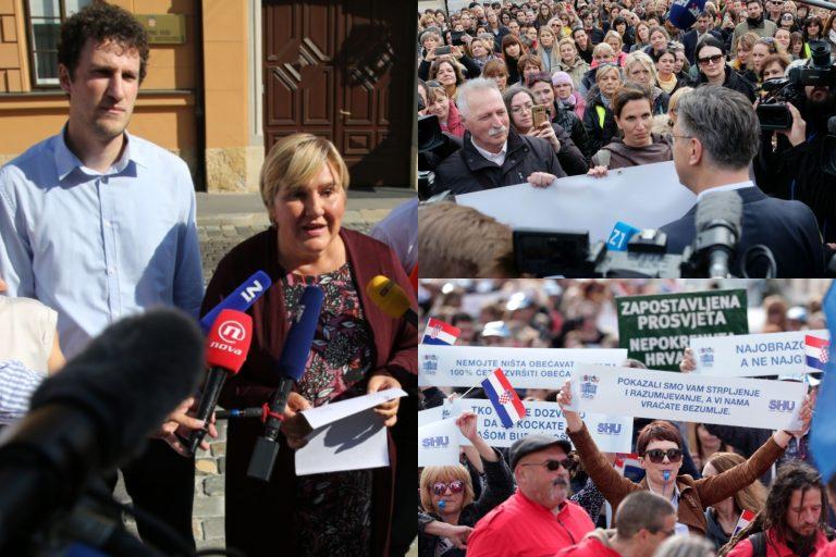 U ime obitelji pozvala svoje podupiratelje da podrže prosvjed učitelja i nastavnika u ponedjeljak na Trgu bana Jelačića