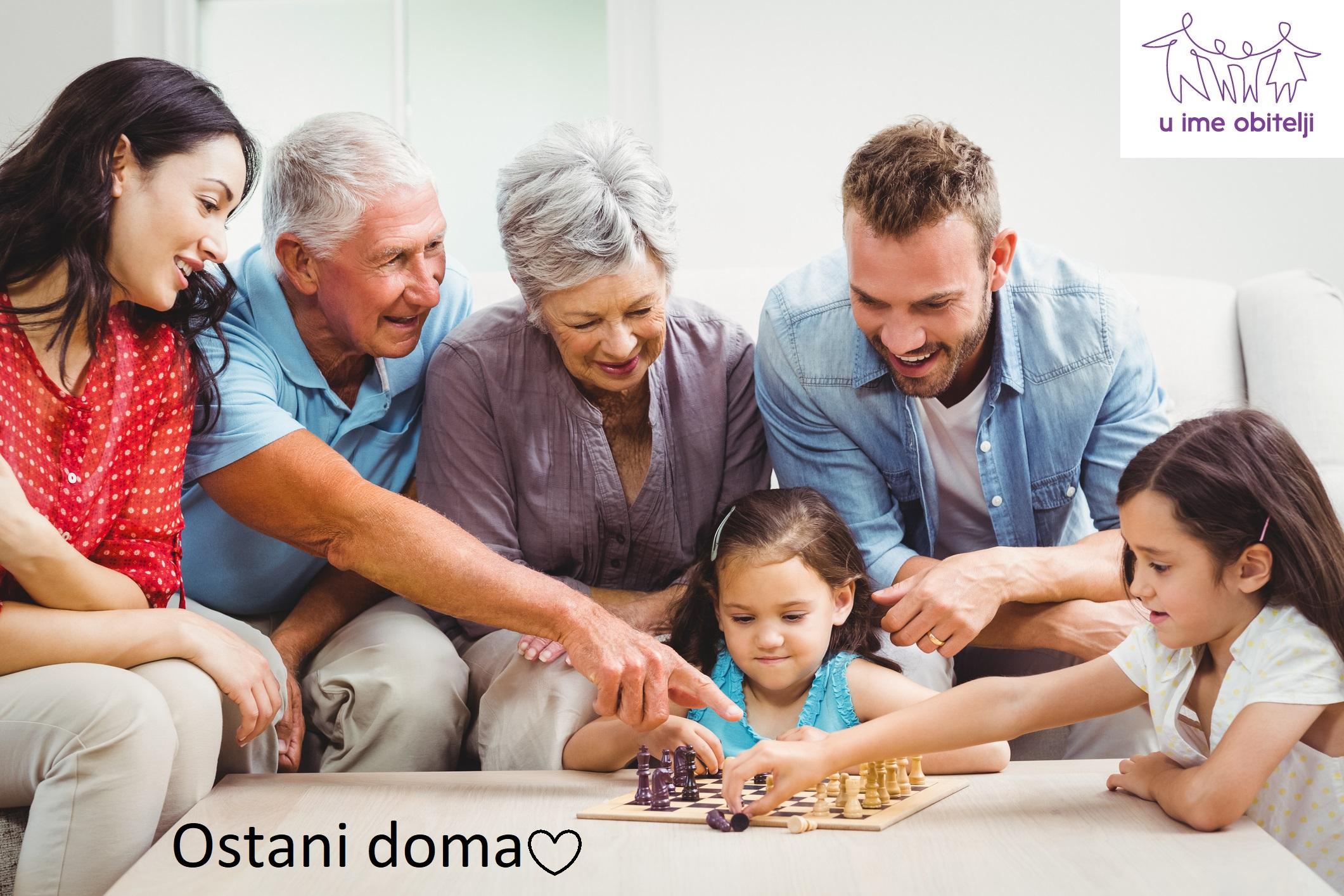 Ostani doma sa svojom obitelji :)