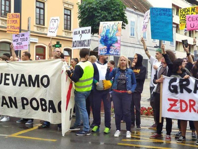 Prosvjed protiv Hoda vodila SDP-ova gradonačelnica, više zagovaratelja pobačaja iz Rijeke nego iz Siska