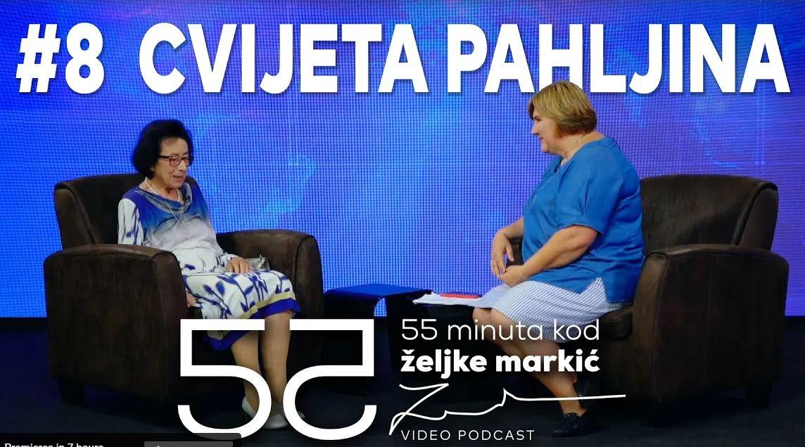 (VIDEO) Dr. sc. Cvijeta Pahljina u podcastu '55 minuta kod Željke Markić'