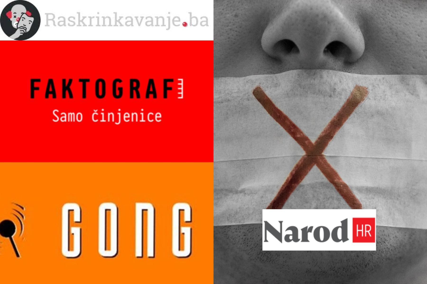 Nova cenzura od Faktograf.hr i Raskrinkavanje.ba nakon što je FB uvažio žalbu Narod.hr-a