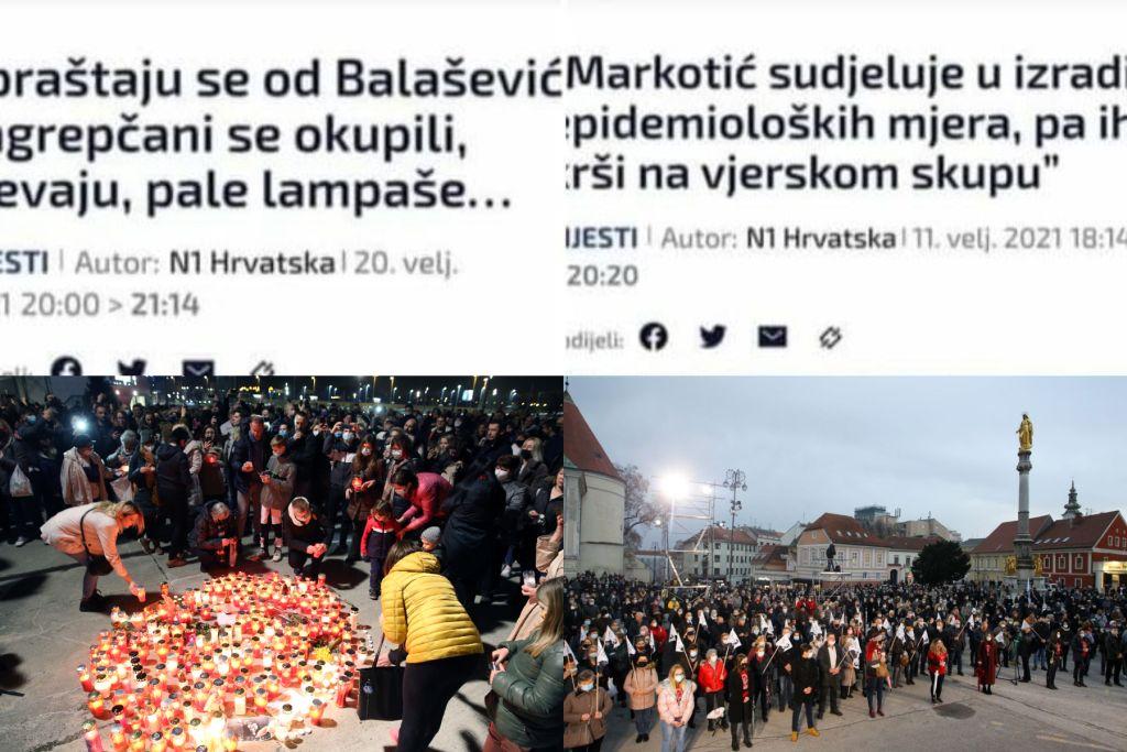 Lijevo-liberalni mediji napali vjernike za Stepinčevo, a oduševljeni okupljanjima Balaševiću u čast